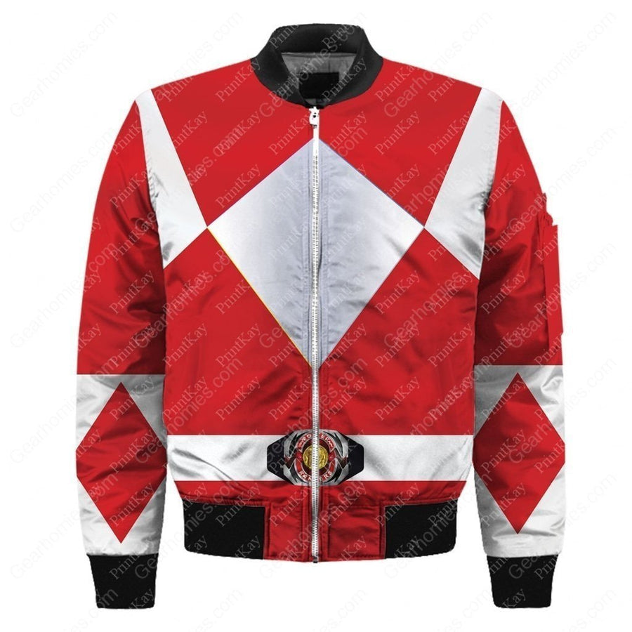 Bomber Red Mighty Morphin / S Qm90