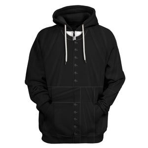 Clergy Black Suit Zip Hoodie / S Vn524