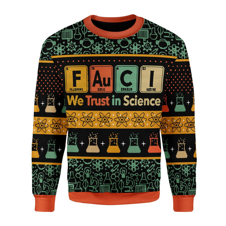 We Trust In Science Christmas Ugly Sweater / S Kd745