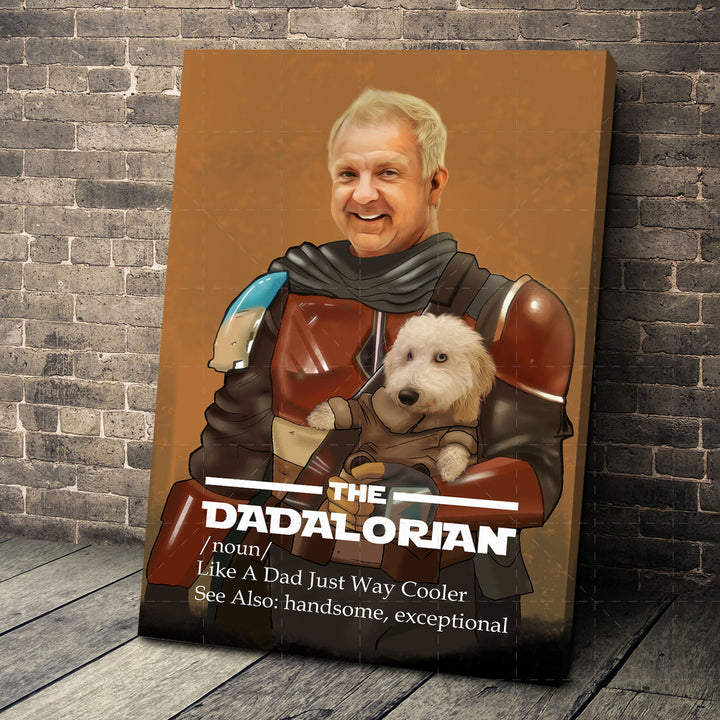 Customized Photos Canvas The Dadalorian Just Like A Dad