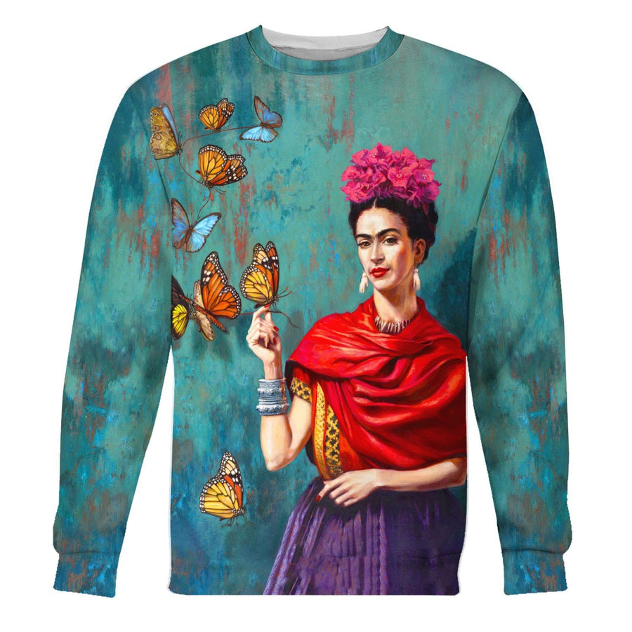 Frida Kahlo Butterfly Long Sleeves / S Qm1204