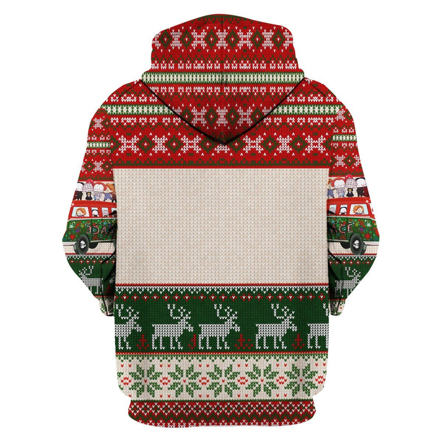 Santa With Horror Characters Christmas Sweater G121