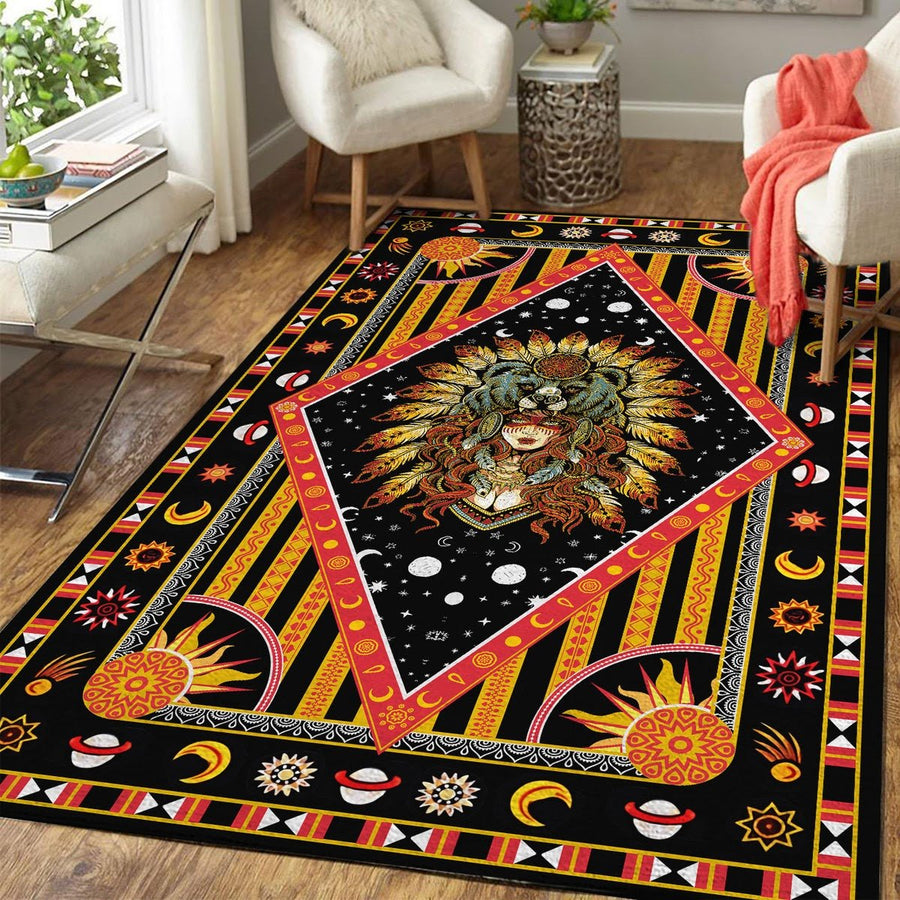 Native American Culture Girl Rug Kd165