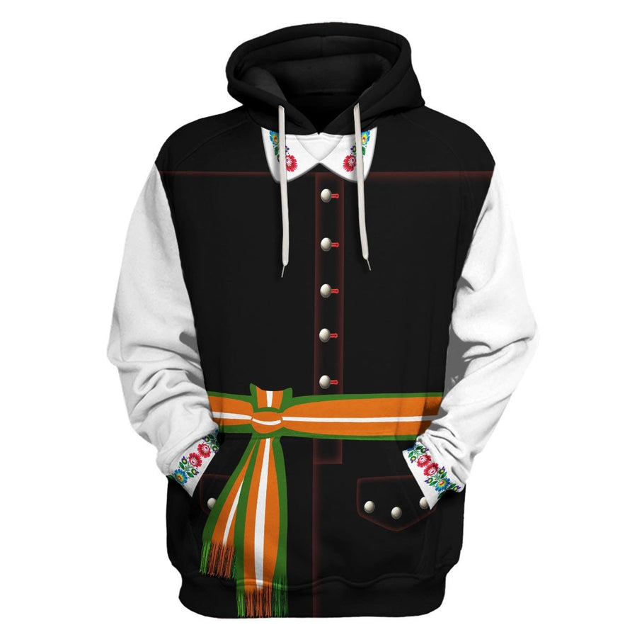 Poles In National Dress - Male Hoodie / S Vn405