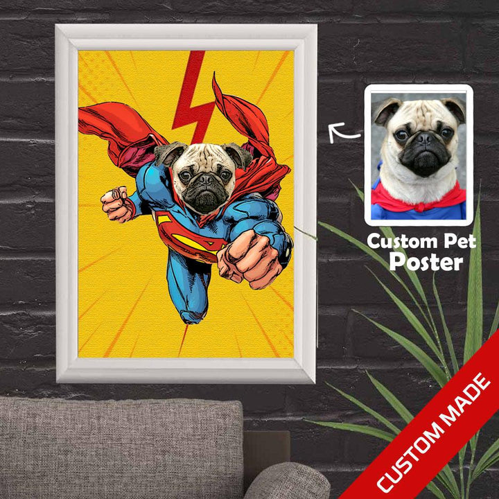 Gearhomies 3D Custom Poster Superman Wall Decor