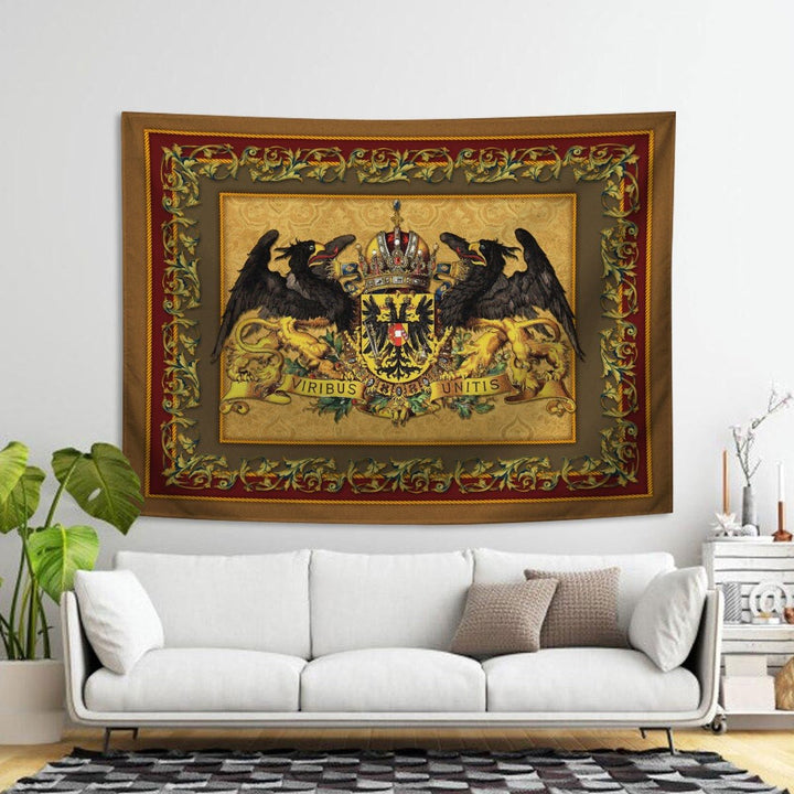 Emperor Franz Joseph I Coat Of Arms Tapestry - 4 Holes / S (27.6 X 39.4 Inches 2.3 3.2 Feet) Qm1401