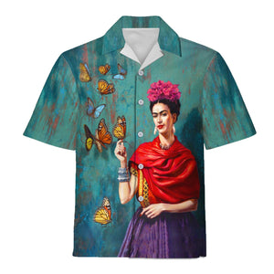 Frida Kahlo Butterfly Hawaiian Shirt / S Qm1204