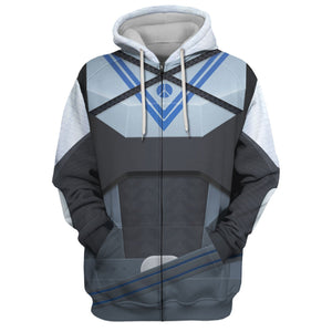 Scorched Hunter Armor Set Vn130 Zip Hoodie / S