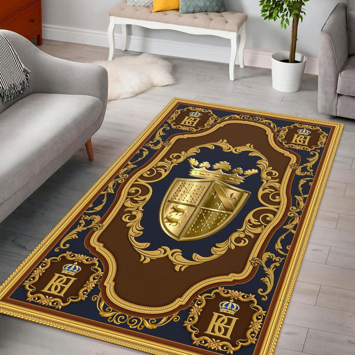 Coat Of Arms Henry Iv France Rug / Small (3 X 5 Feet - 35 59 Inches) Qm1291