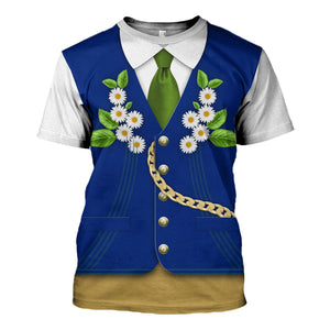 Swedes In National Costume T-Shirt / S Vn399