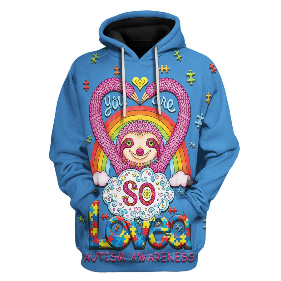You Are So Loved Autism Awareness Kid Normal Hoodie / Xs Au17222