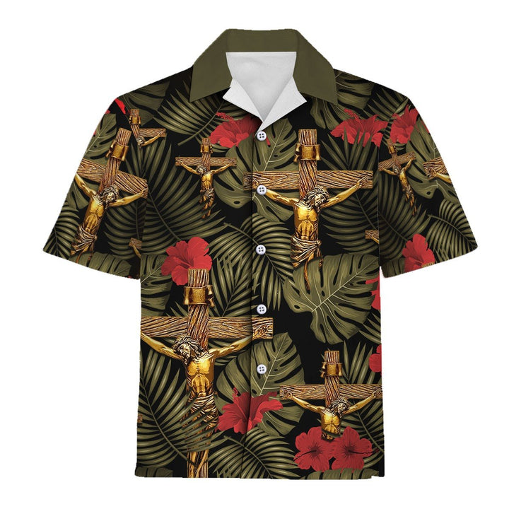 Crucifixion Of Jesus Cross Hawaiian Shirt / S Qm898