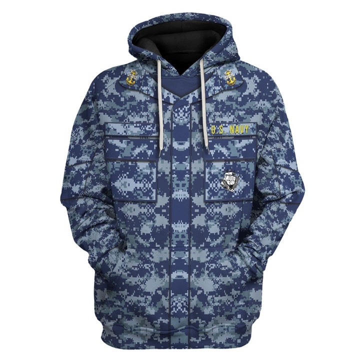 Navy Working Uniform Type I Hoodie / S Vn247