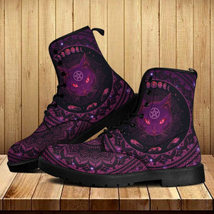 Witch Cat Leather Boots Hp436 Women / 3