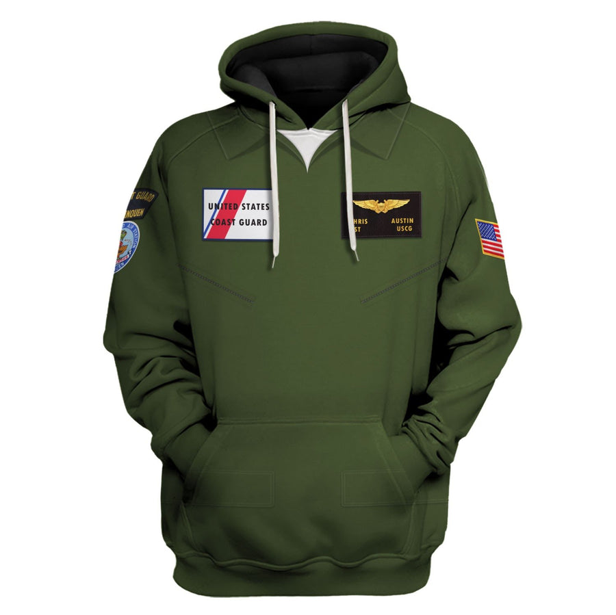 United States Coast Guard Fly Suit Hoodie / S Vn334