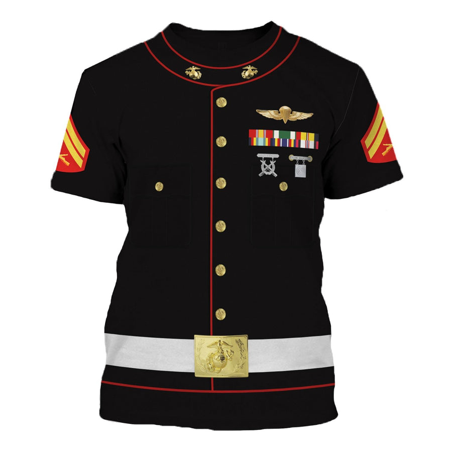 Us Marines Blue Dress Uniform T-Shirt / S Vn337