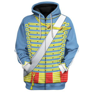 Napoleonic Uniforms Of The French Hussars Zip Hoodie / S Hi130220