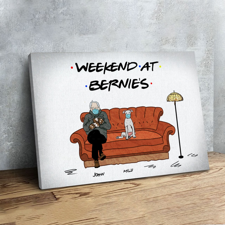 Customized Canvas - Weekend At Bernies
