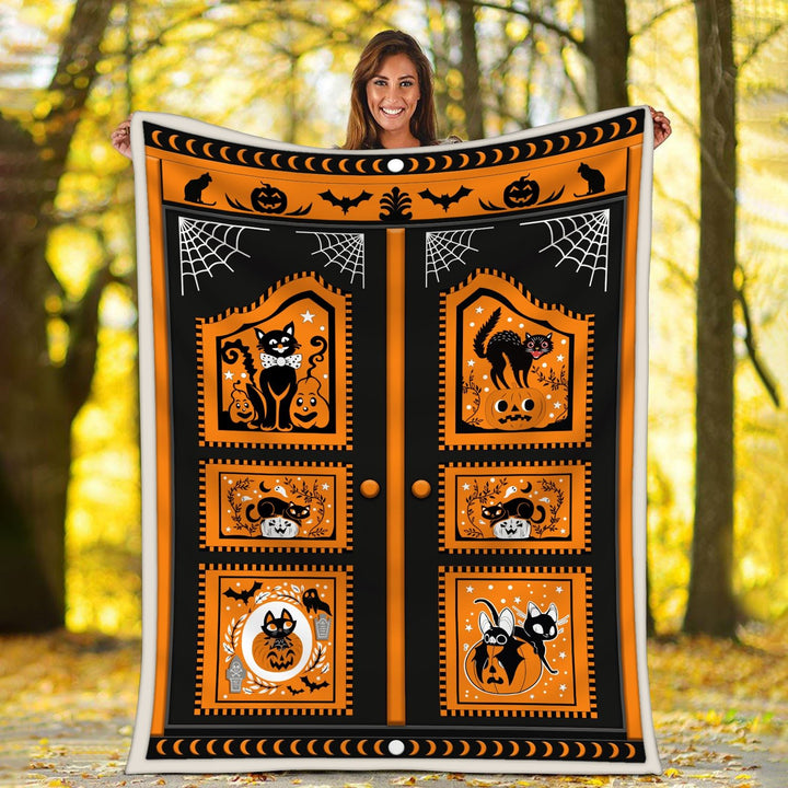 Black Cat Halloween Blanket Kd141