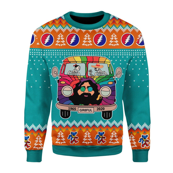 Grateful Dead Bus Christmas Ugly Sweater / S Kd724