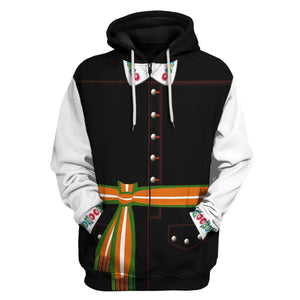 Poles In National Dress - Male Zip Hoodie / S Vn405