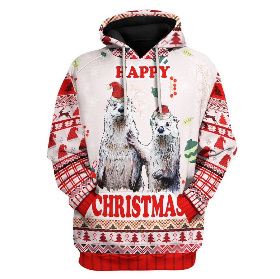 Couple Christmas Ugly Sweater Hoodie / S Kd185