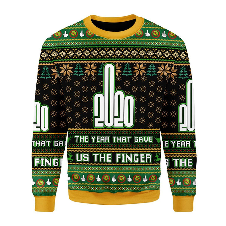 Funny 2020 The Year That Gave Us Finger Ugly Christmas Sweater Kd552 Chrristmas / S