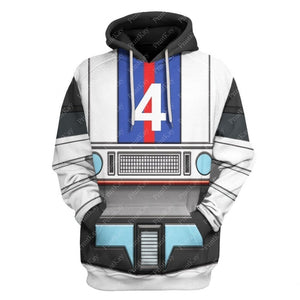 Qm39 All Over Print Hoodie / S