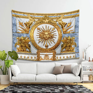 Louis Xvi Coat Of Arms Tapsetry Tapestry - 4 Holes / S (27.6 X 39.4 Inches 2.3 3.2 Feet) Qm1422