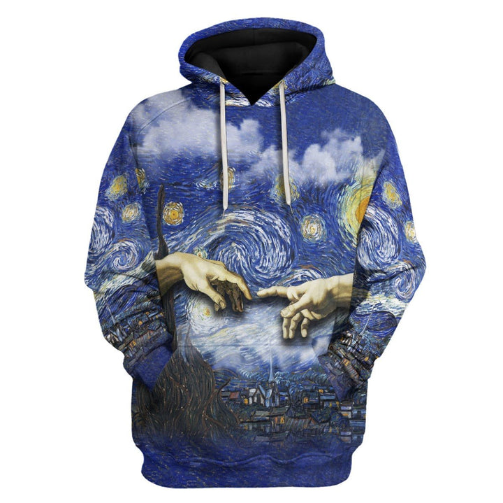 The Creation Of Adam Painting Hoodie / S Vn812