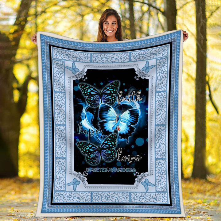 Diabetes Awareness Blanket / S (51 X 59 Inches - 4 5 Feet ) G98