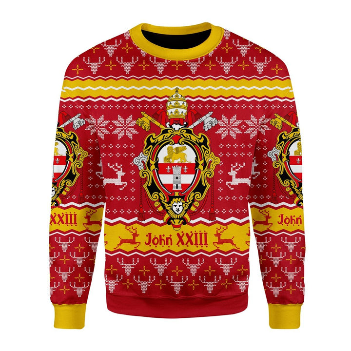 John Xxiii Coat Of Arms Ugly Sweater / S Qm1635