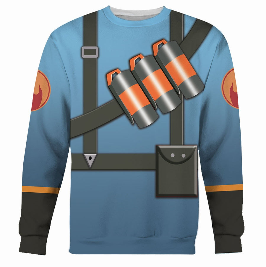 Pyro Blue Team Tf2 Long Sleeves / S Vn181