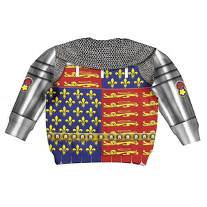 Edward The Black Prince Armor Kid Zip Hoodie / Toddler 4 Khp296