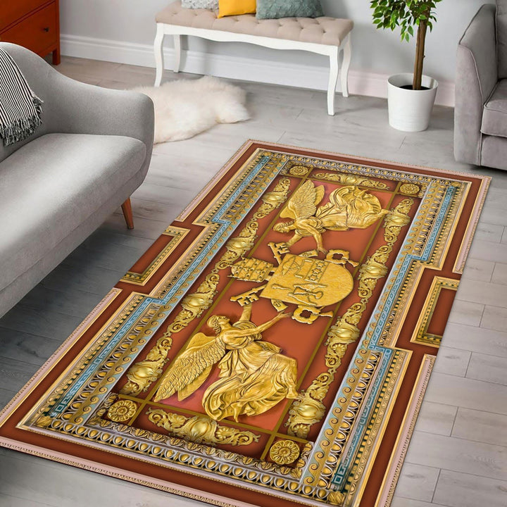 Gregory Xvi Coat Of Arms Rug / Small (3 X 5 Feet - 35 59 Inches) Qm1406