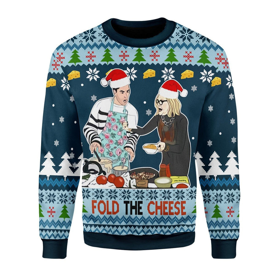 Fold The Cheese Ugly Christmas Sweater / S G696
