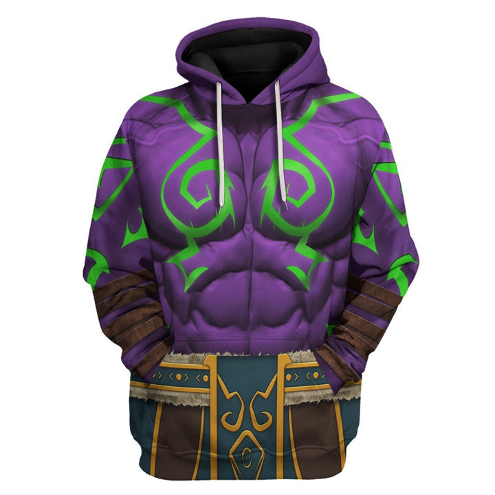 Illidan Stormrage World Of Warcraft Hoodie / S Qm1001