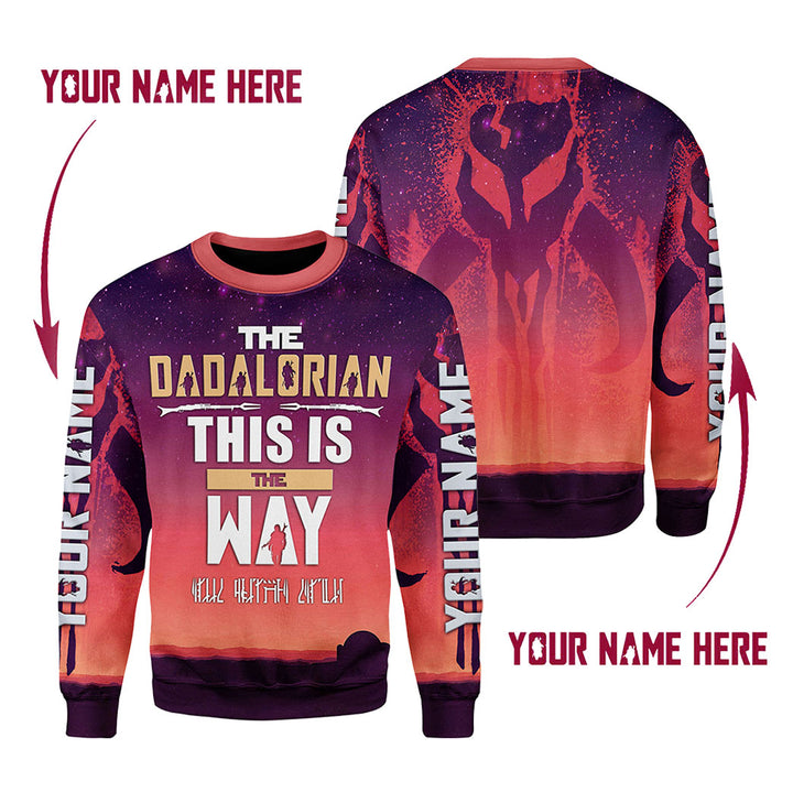 Personalized Name The Dadalorian This Is The Way Fleece Long Sleeves