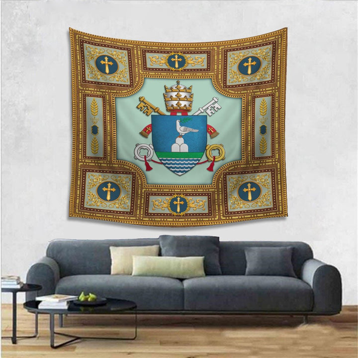 Pope Francis Coat Of Arms Tapestry - 4 Holes / S (27.6 X 39.4 Inches 2.3 3.2 Feet) Qm1349