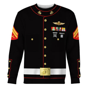 Us Marines Blue Dress Uniform Long Sleeves / S Vn337