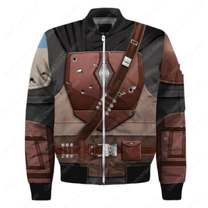 3D Mando Bomber All Over Print Qm82 / S