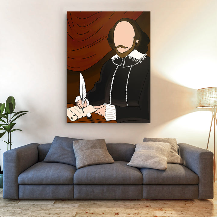 William Shakespeare - Drawing Custom Canvas