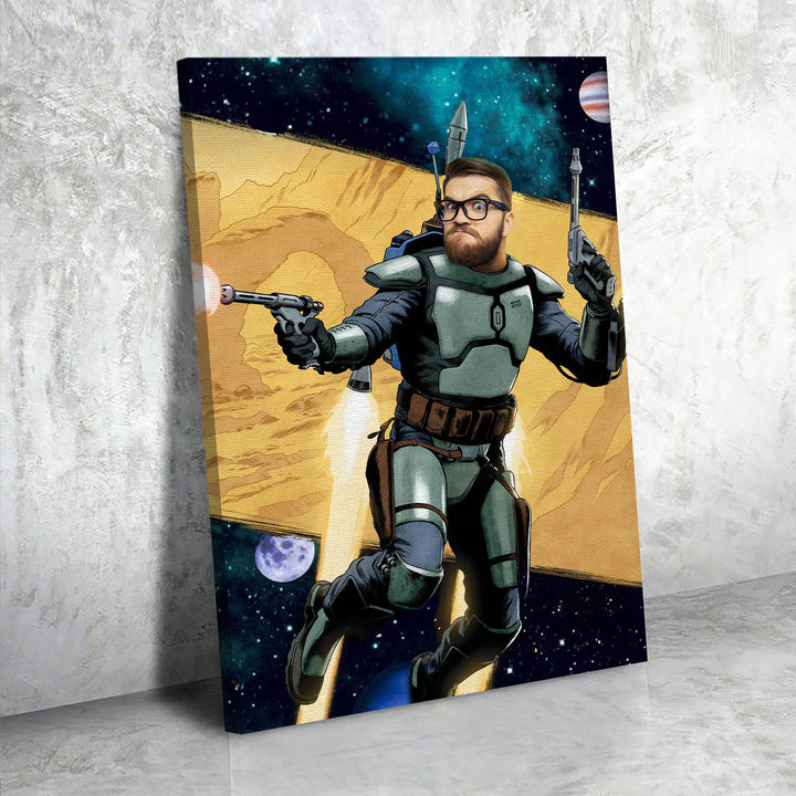 Customized Photos Canvas  Jango Fett
