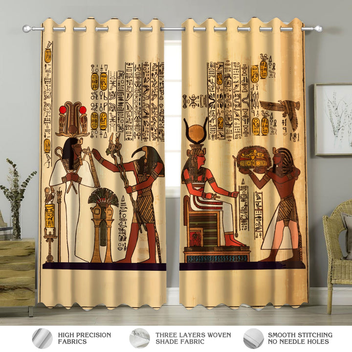 Eqyptian Gods Window Curtains Hp151 Curtains / A (W42*l63)