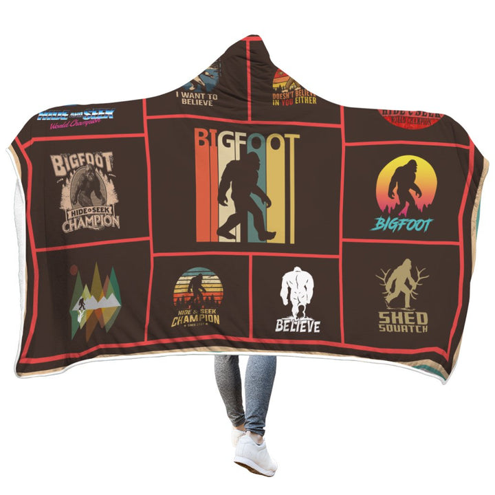 Gearhomies 3D Custom Blanket Bigfoot Hooded