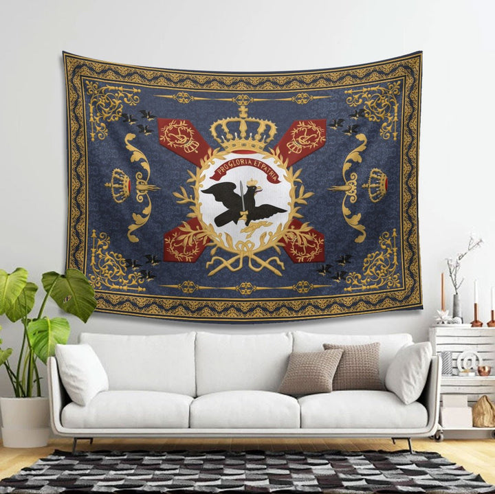 Qm1438 Flag Prussian Aarmy Tapestry - 4 Holes / S (27.6 X 39.4 Inches 2.3 3.2 Feet)