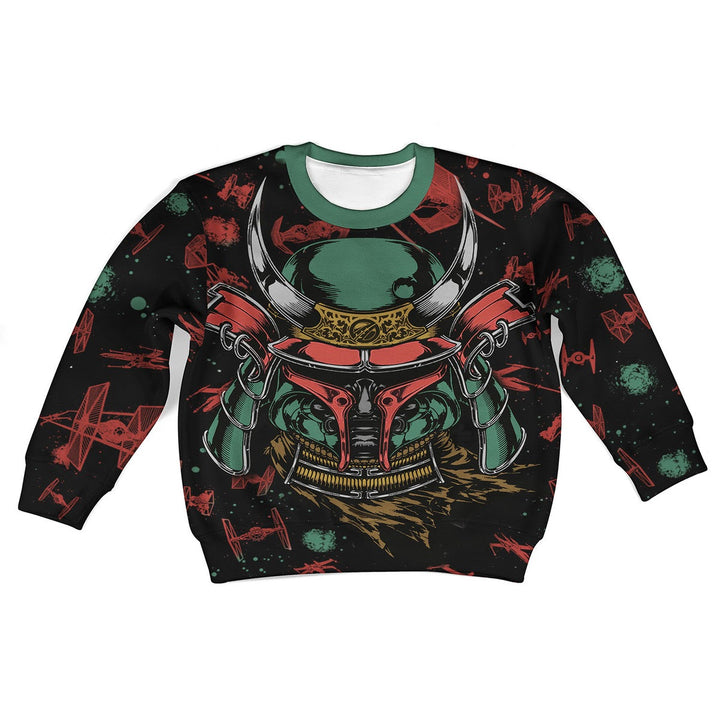 Samurai Boba 3D Kid Long Sleeves