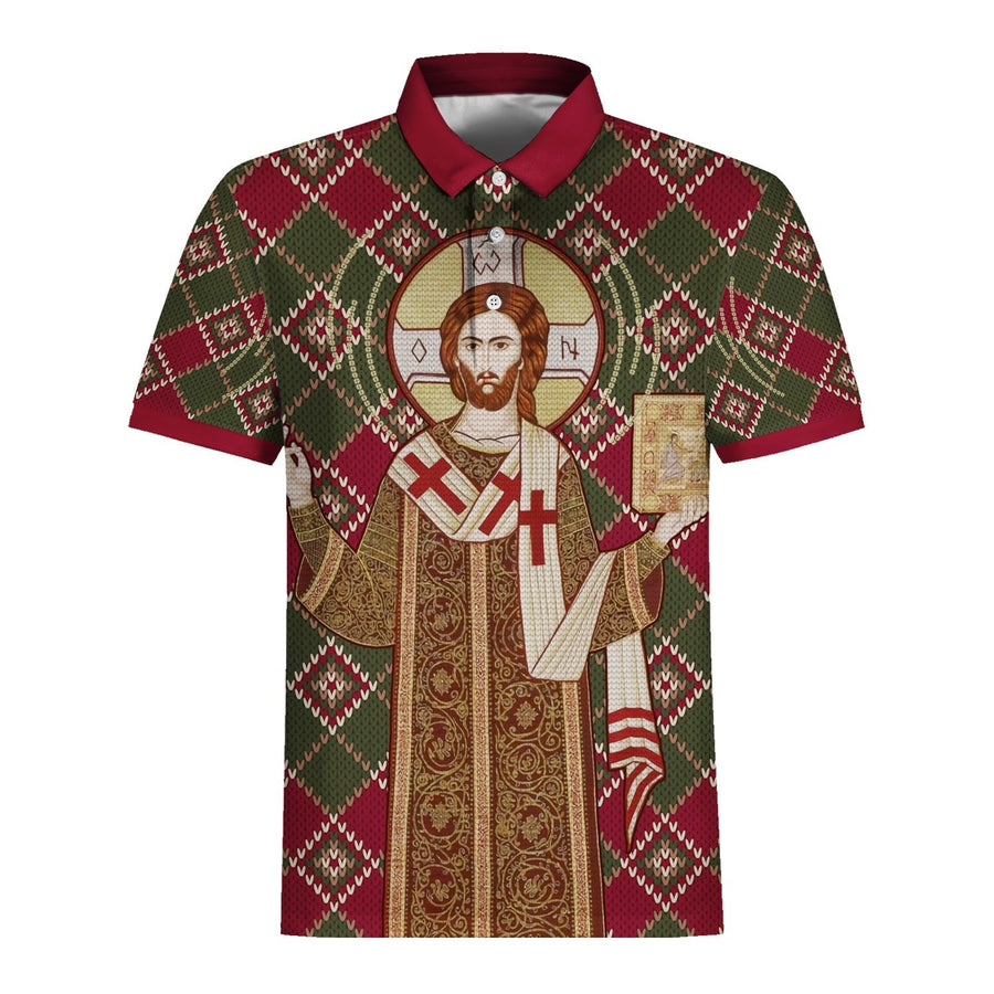Orthodox Christianity Christmas Ugly Sweater Polo Shirt / S Qm1535