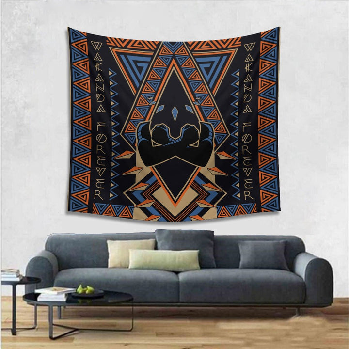 Black Panther Wakanda Tapestry - 4 Holes / S (27.6 X 39.4 Inches 2.3 3.2 Feet) Qm1376