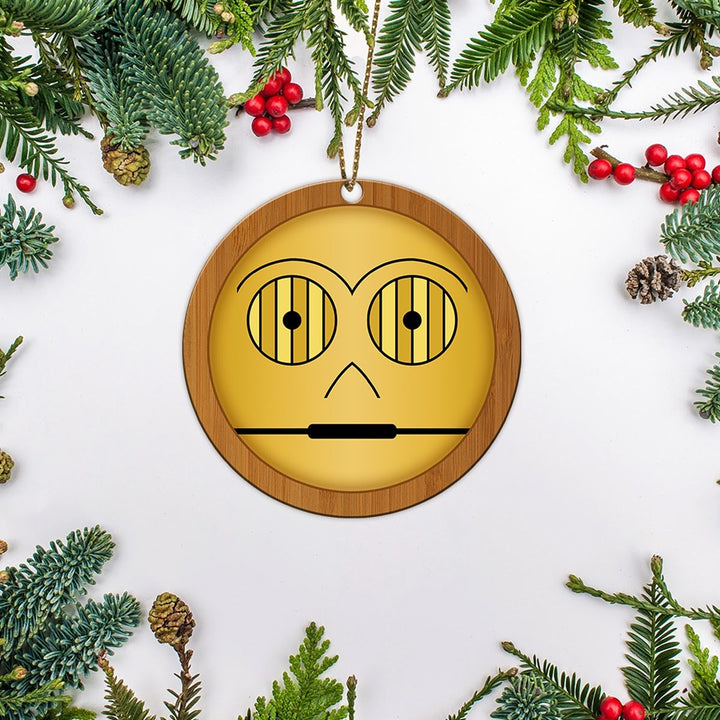 Star Wars C3 Po Christmas Ornament Wood ( 9 X Cm - 3.5 Inches) / Pack 1 Em002